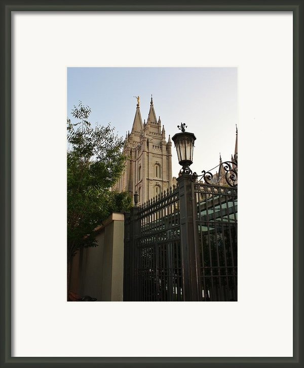 Temple Square Grounds Framed Print By Bruce Bley