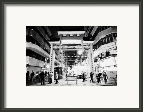 Temple Street Night Market Tsim Sha Tsui Kowloon Hong Kong Hksar China Framed Print By Joe Fox