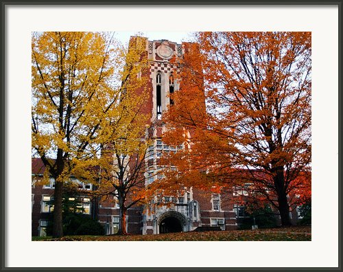 Tennessee Ayers Hall Framed Print By University Of Tennessee Athletics
