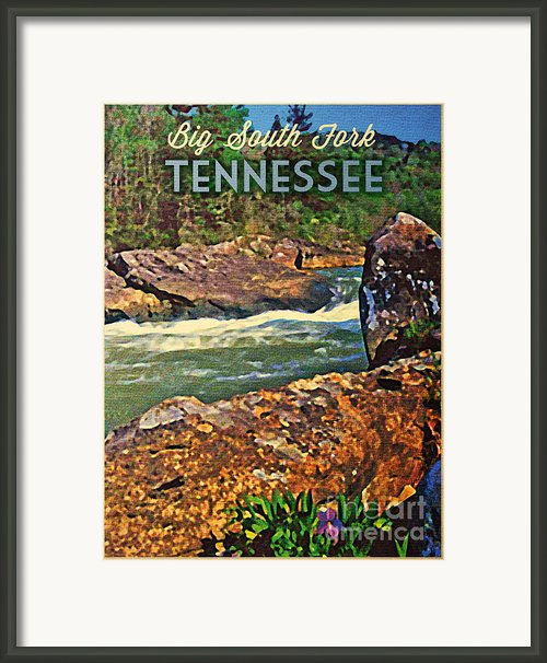 Tennessee Big South Fork Framed Print By Vintage Poster Designs