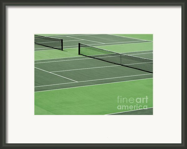 Tennis Court Framed Print By Blink Images