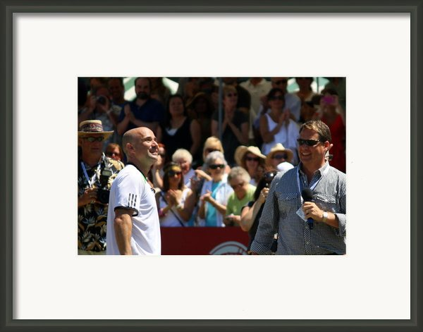 Tennis Legend Framed Print By Anne Babineau