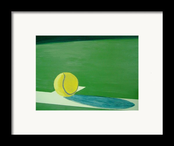 Tennis Reflections Framed Print By Ken Pursley