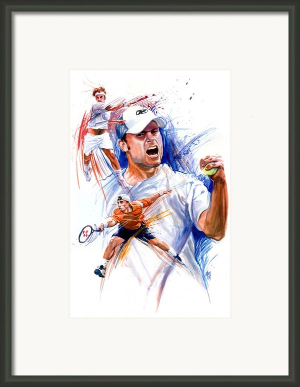 Tennis Snapshot Framed Print By Ken Meyer Jr