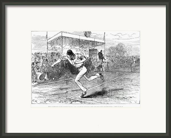 Tennis: Wimbledon, 1880 Framed Print By Granger