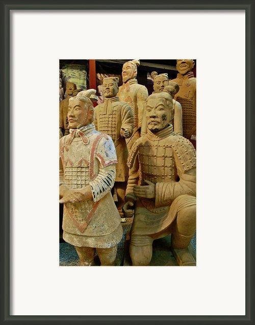 Terracotta Warriors Framed Print By Dorota Nowak