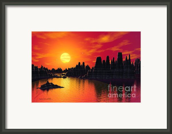 Terrestrial Planet At 55 Cancri Framed Print By Lynette Cook