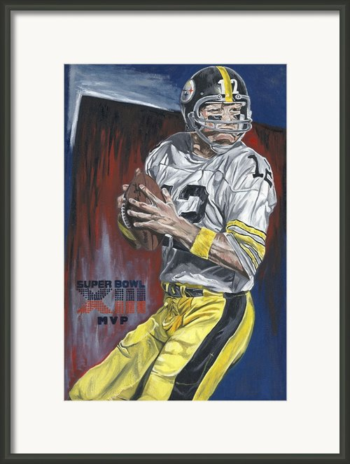 Terry Bradshaw Xiii Mvp Framed Print By David Courson