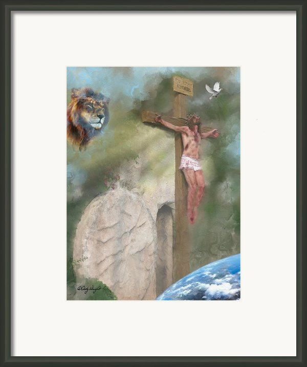 Tetelesti It Is Finished Framed Print By Cindy Wright