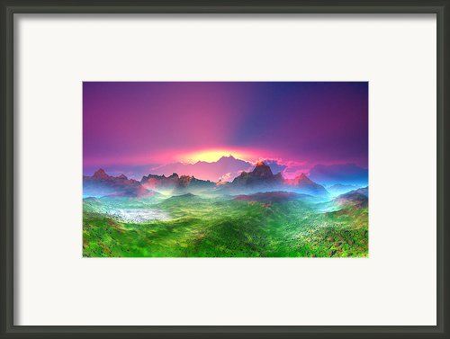 Texas  Country Digital Painting Framed Print By Heinz Mielke