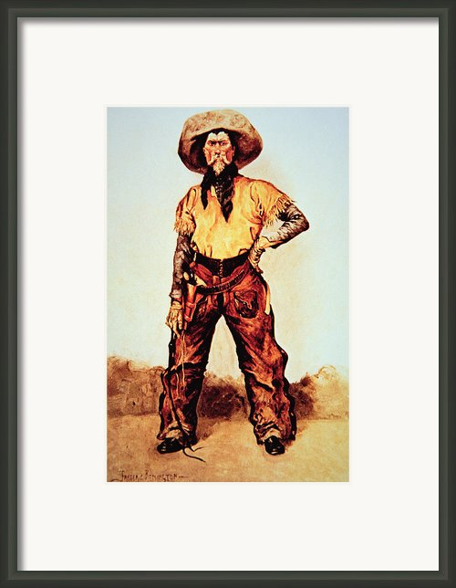 Texas Cowboy Framed Print By Frederic Remington