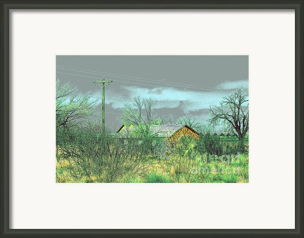 Texas Farm House - Digital Painting Framed Print By Merton Allen