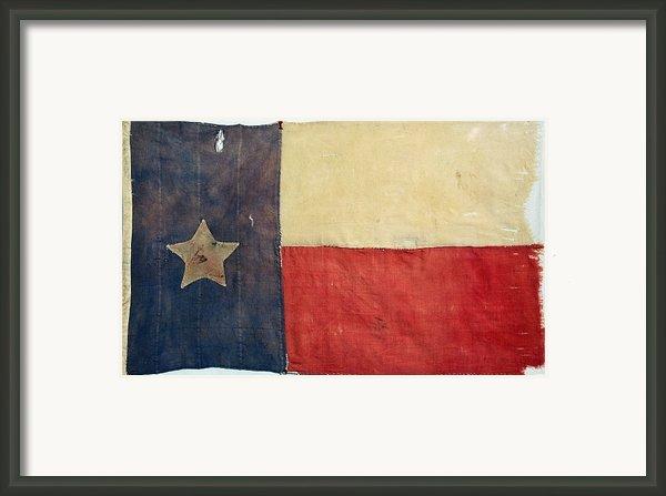 Texas Flag, 1842 Framed Print By Granger