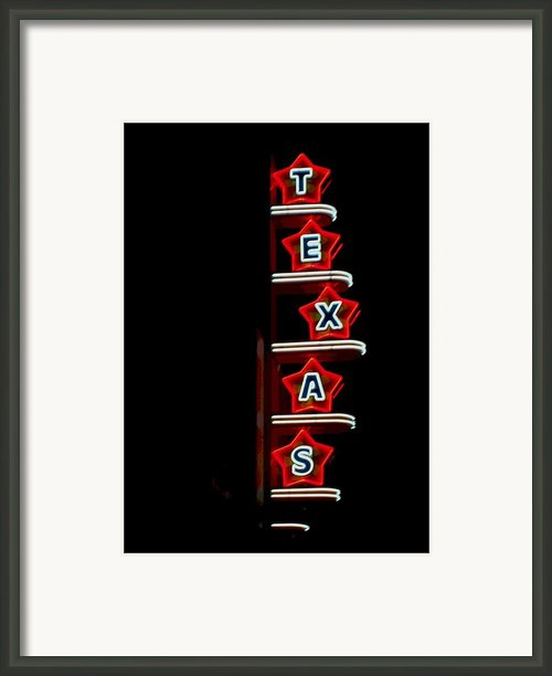 Texas Theater Framed Print By Kitty Geno