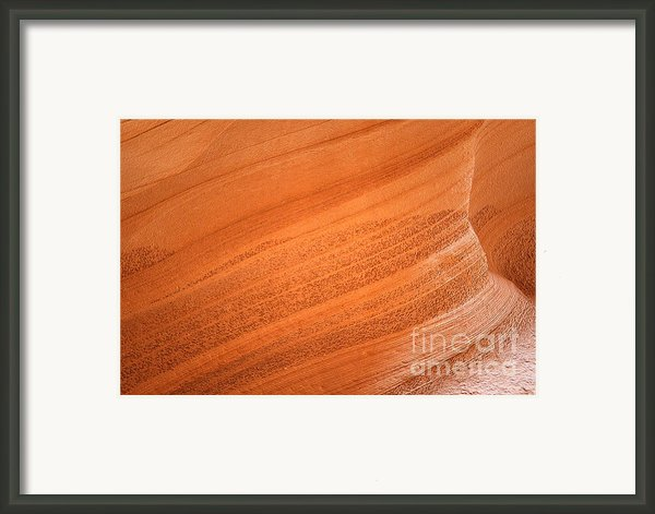 Texture And Light - Antelope Canyon Framed Print By Christine Till