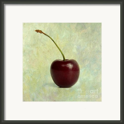 Textured Cherry. Framed Print By Bernard Jaubert
