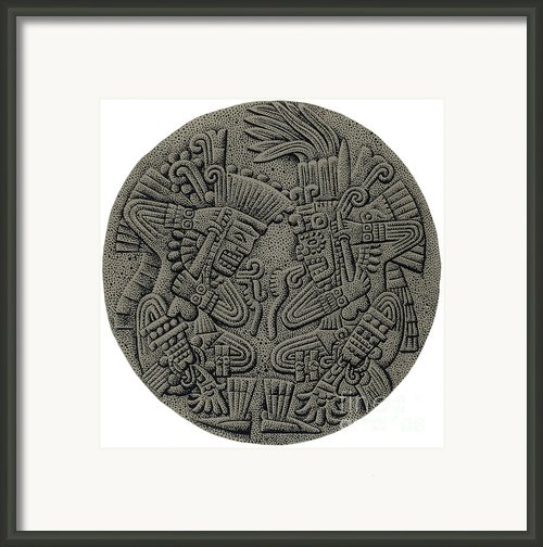 Tezcatlipoca And Huitzilopochtli Framed Print By Photo Researchers