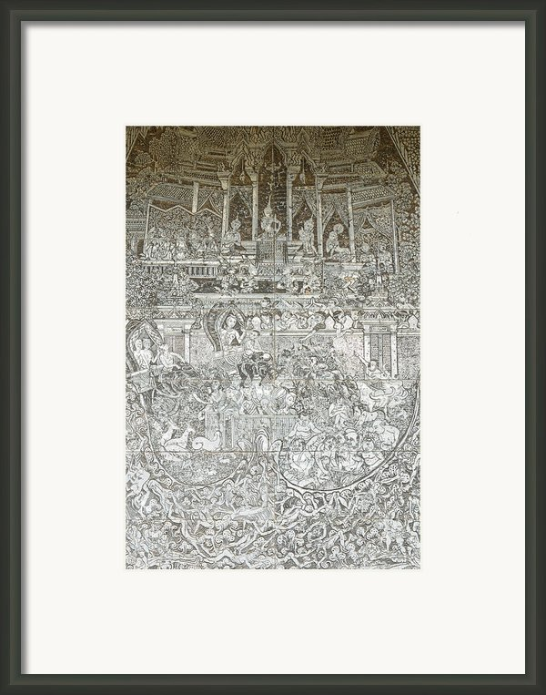 Thai Writing Patterns Framed Print By Kanoksak Detboon