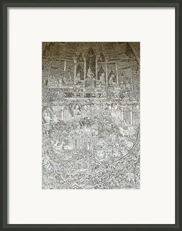 Thai Writing Patterns Framed Print By Kanoksak Detboon