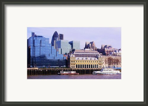 Thames And Financial District - London Framed Print By John Clark