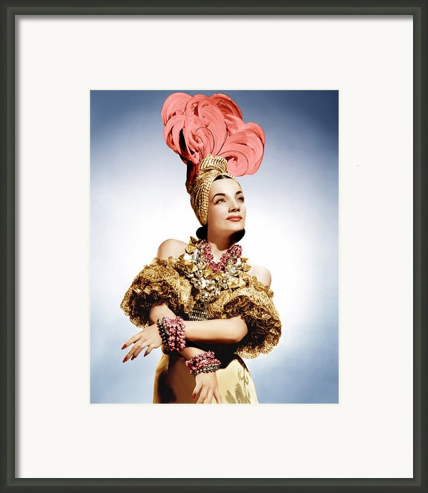 That Night In Rio, Carmen Miranda, 1941 Framed Print By Everett