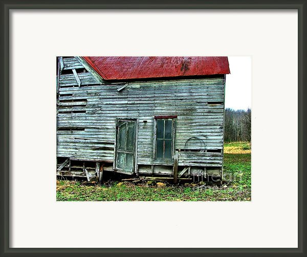 That Old House Down By The Creek Framed Print By Julie Dant