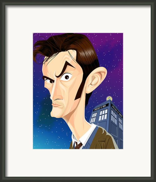 The 10th Doctor Framed Print By Kevin Greene