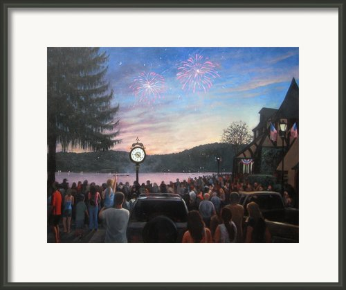 The 4th Of July On Lake Mohawk Framed Print By Tim Maher