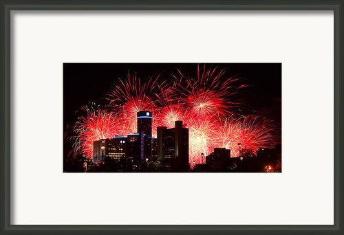 The 54th Annual Target Fireworks In Detroit Michigan - Version 2 Framed Print By Gordon Dean Ii