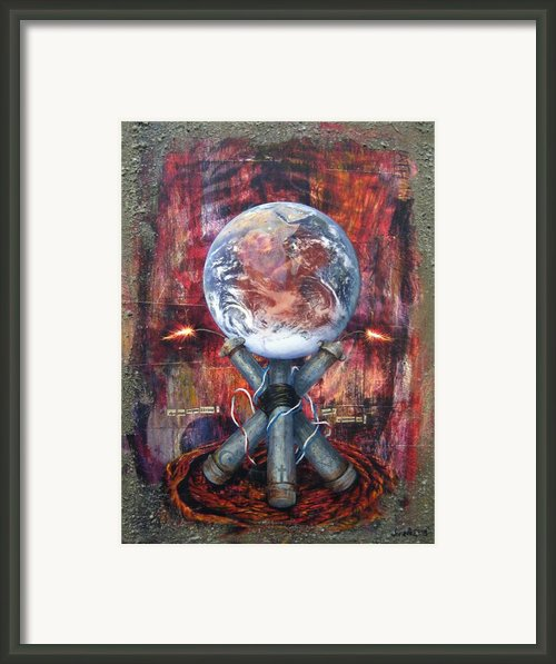 The 7 Contemporary Sins - Wrath Framed Print By Janelle Schneider