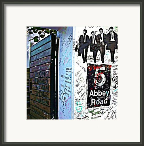 The Abbey Wall Framed Print By Lauranns Etab