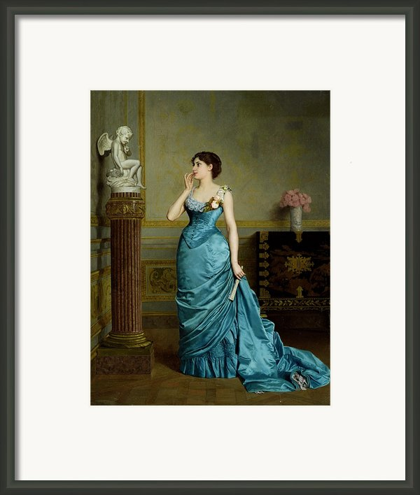 The Accomplice Framed Print By Auguste Maurice Cabuzel