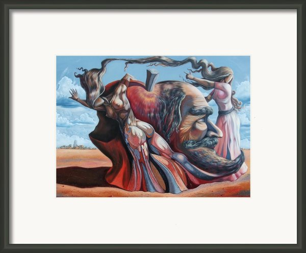 The Adam-eve Delusion Framed Print By Darwin Leon