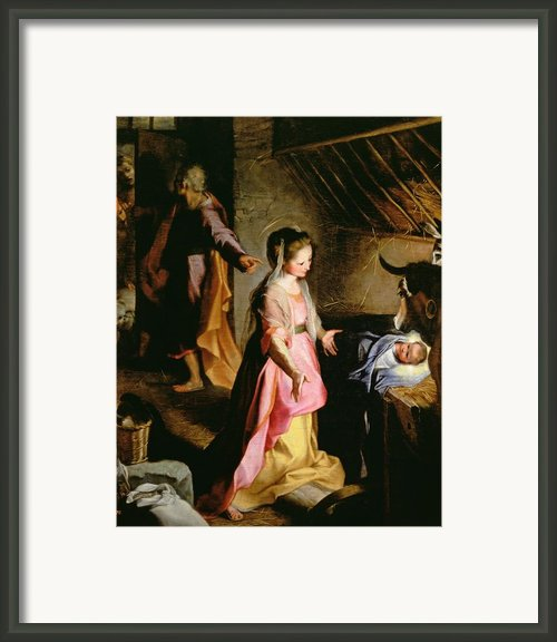 The Adoration Of The Child Framed Print By Federico Fiori Barocci Or Baroccio