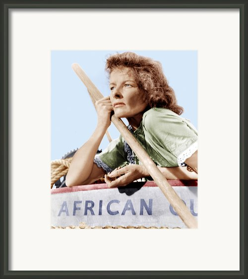 The African Queen, Katharine Hepburn Framed Print By Everett