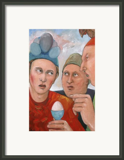 The Age Old Debate Framed Print By Paula Wittner