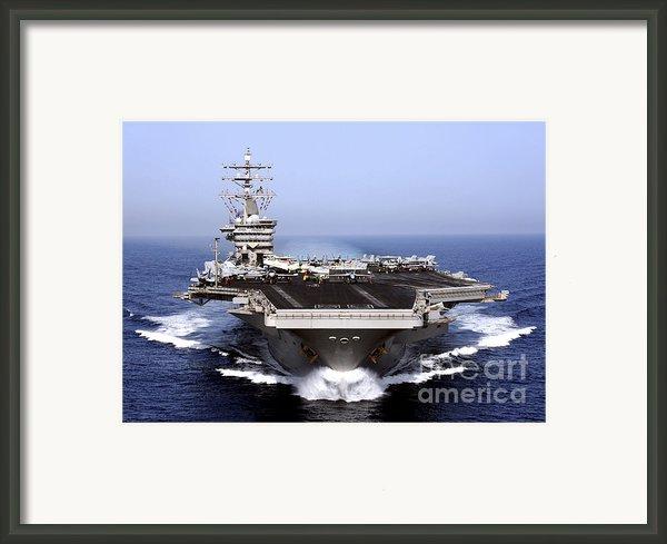 The Aircraft Carrier Uss Dwight D Framed Print By Stocktrek Images