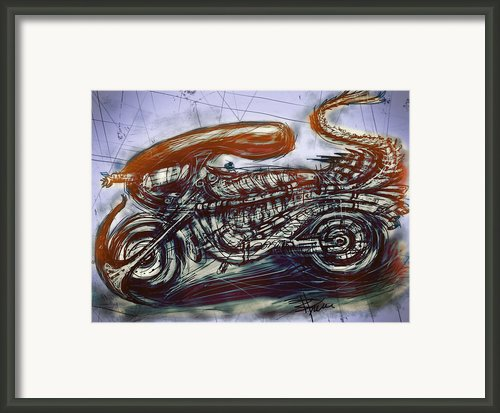 The Alien Bike Framed Print By Russell Pierce