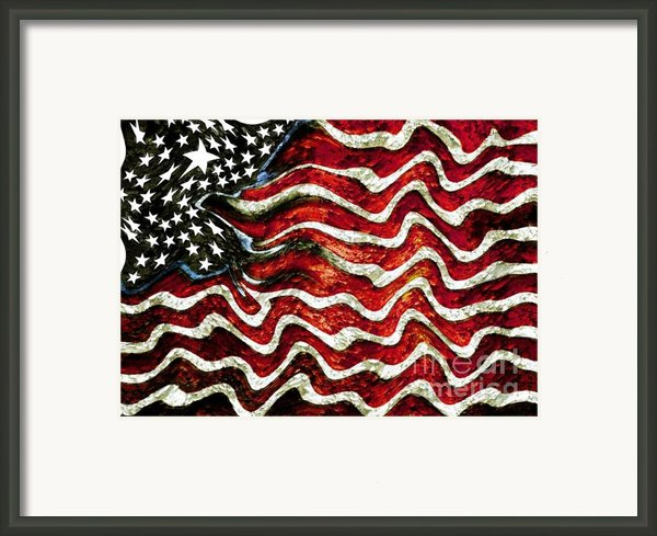 The American Flag Framed Print By Mimo Krouzian