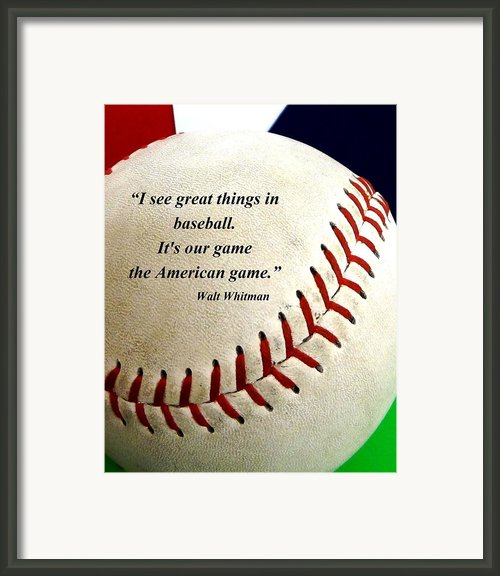 The American Game Framed Print By Ck Knudson