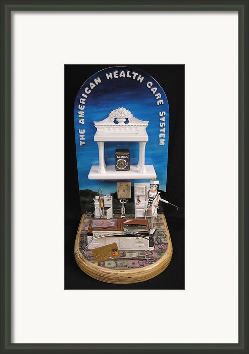 The American Healthcare System Framed Print By Bill Czappa