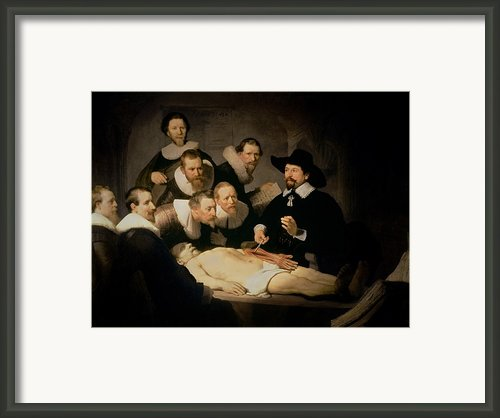 The Anatomy Lesson Of Doctor Nicolaes Tulp Framed Print By Rembrandt Harmenszoon Van Rijn
