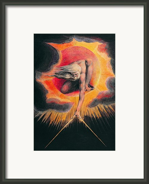 The Ancient Of Days Framed Print By William Blake