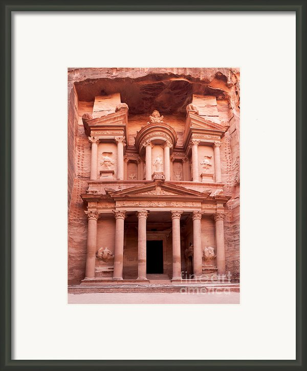 The Ancient Treasury Petra Framed Print By Jane Rix