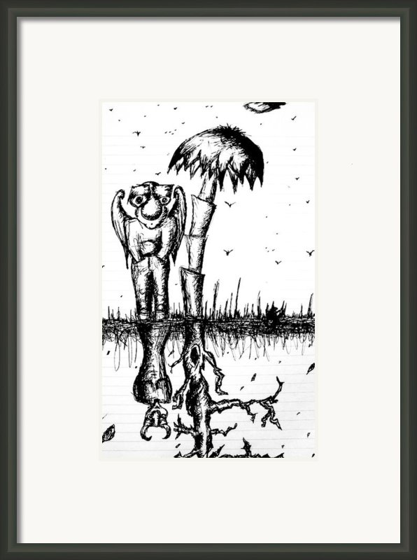 The Angel Is The Devil Framed Print By Jera Sky
