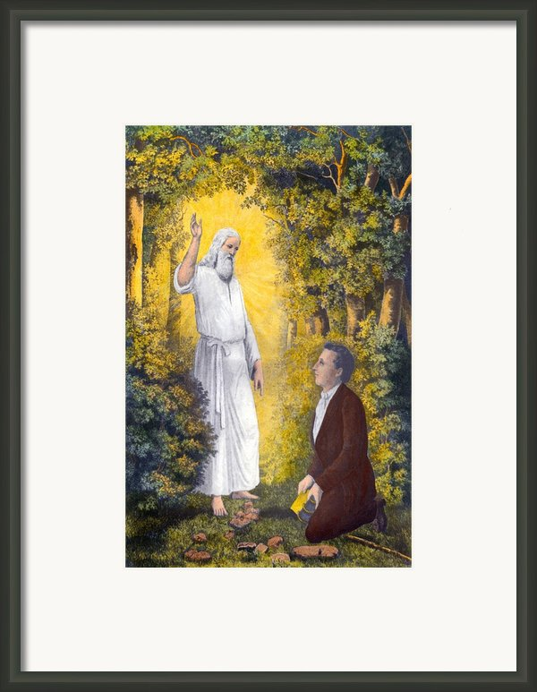 The Angel Moroni Delivering The Plates Framed Print By Everett