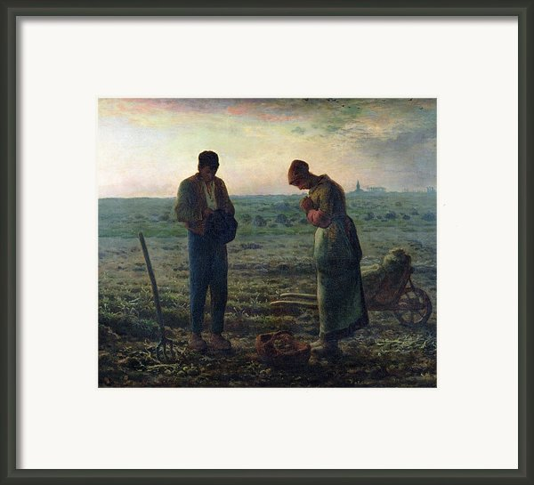 The Angelus Framed Print By Jean-francois Millet