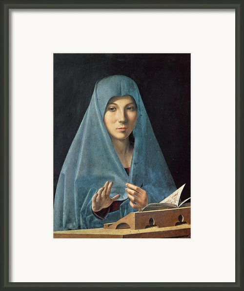The Annunciation Framed Print By Antonello Da Messina