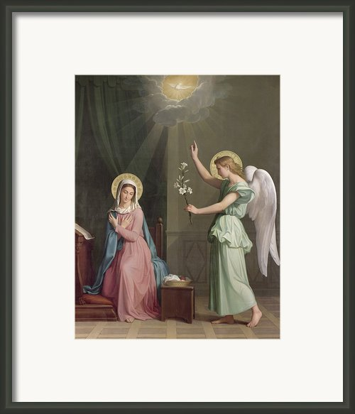 The Annunciation Framed Print By Auguste Pichon