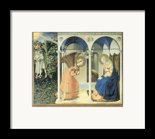 The Annunciation Framed Print By Fra Angelico